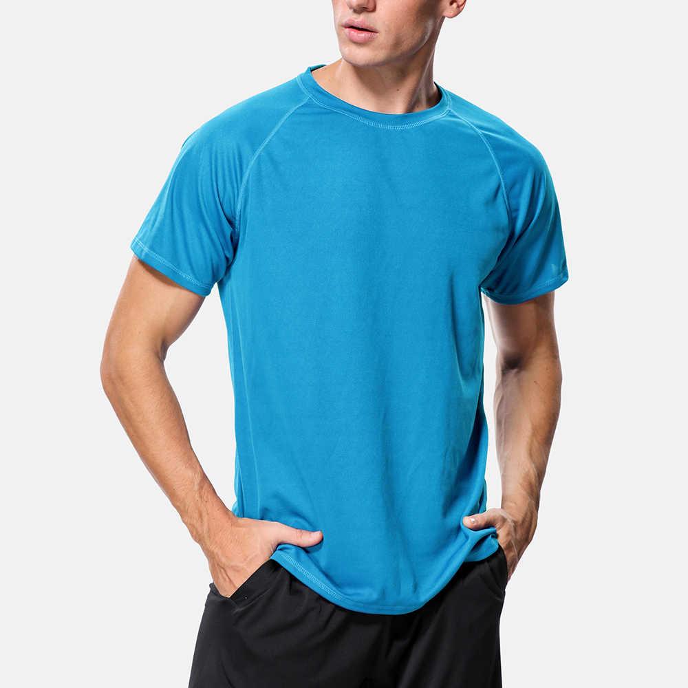 Charmo masculino seco-ajuste camisas masculino camisa de cor sólida uv-proteção masculino rash guard upf 50 + beach wear esportes surf