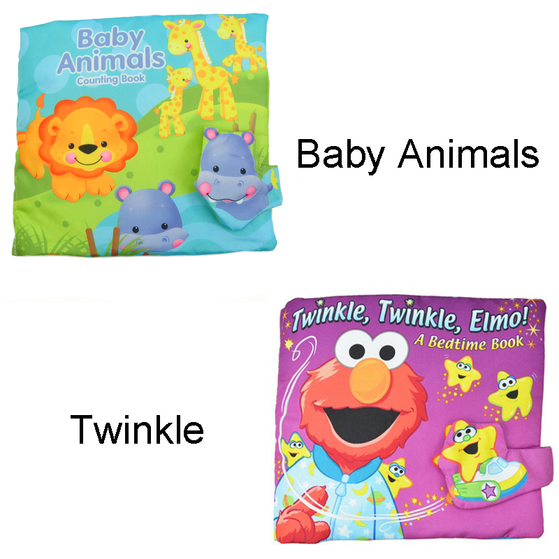 Soft Play Goodnight 3D Washable Cloth Book Baby Twinkle Elmo Animal Hippo lion Rainforest Early Education Multifunctional Toys multifunctional baby cloth building blocks rattle soft play cubes early educational