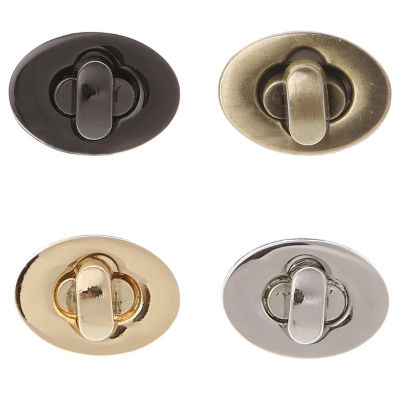 Thinkthendo 1 Pc Oval Twist Lock Beutel Fall Fangen Schnalle Verschluss Für Handtaschen Zubehör Diy Handwerk Pullover