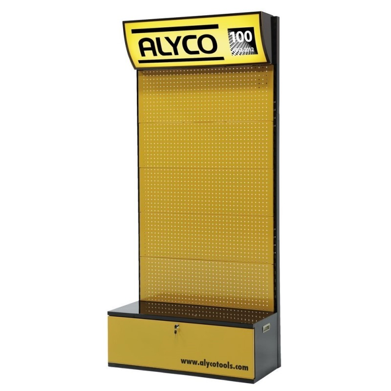 ALYCO 113503-displayer Mural 100x450x2280 With 60 Hooks Simple And Metal Tray