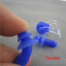 1pairs Authentic Soft Silicone Nose Clip EarPlugs Noise Reduction christmas tree Earplugs Swimming Protective earmuffs