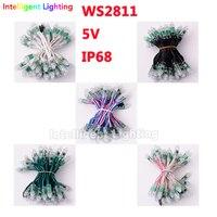 100 Pcs 12mm WS2811 Led Module 12v Black Green White Crystal RGB Wire RGB Digital IP68