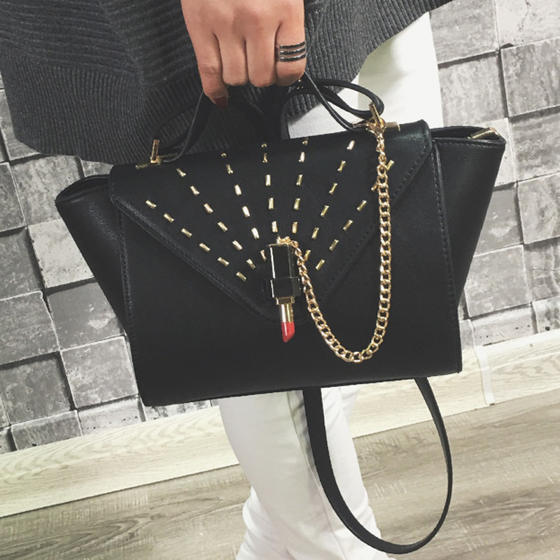 6bd0e24fc50 Luxury handbag high quality ladies bag top portable shoulder bag fashion  simple color bag 2017 new year leisure bag