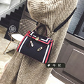 2017 Hot New Fashion Women Korean Style Contrast Color Small Flap Handbags Female Classic Kylie Lock Shoulder Bags Messenger Bag