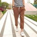 2016 Nueva Llegada de La Manera Recta hombres de la Cruz-Pantalones Lápiz Pantimedias Pantalones de Lino Delgado Ocasional Pantalones de Ventilación 13M0127