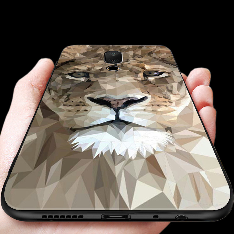 16thPlus Chinese dragon lion Wolf world Anti explode Emboss Thin Back Cover Shock Proof case For Meizu 16th Plus