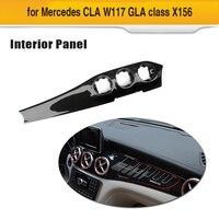Для CLA углеродного волокна отделки приборной панели GLA крышка Управление Панель для Mercedes Benz X156 CLA W117 GLA X156 2013 18 углеродного волокна
