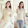 New Summer Women Girl Long Sleeve Casual Chiffon Shirt OL Lady  Blouse Tops S-XL