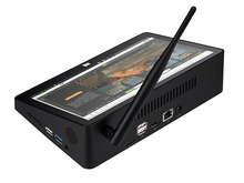 PIPO X10 Pro / X10 10.8 inç Mini PC Win10/Android 7.0/Linux Tablet PC 4G RAM 64G ROM Z8350/RK3399 TV kutusu BT RJ45 HDMI USB * 4