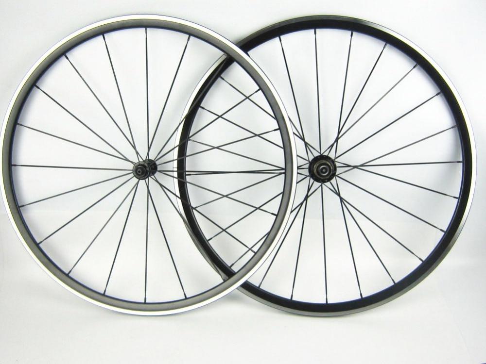 One Pair 24mm Alloy Bike Rim Alloy Kinlin Road Bike Wheelset XR270 Cycling Wheel Set 424/1420 Spoke Aluminum Bicycle Wheel 700C