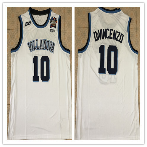 57c7140d2 Villanova Wildcats  10 Donte DiVincenzo Basketball Jerseys Mens 100% Double  Stitched Top Quality