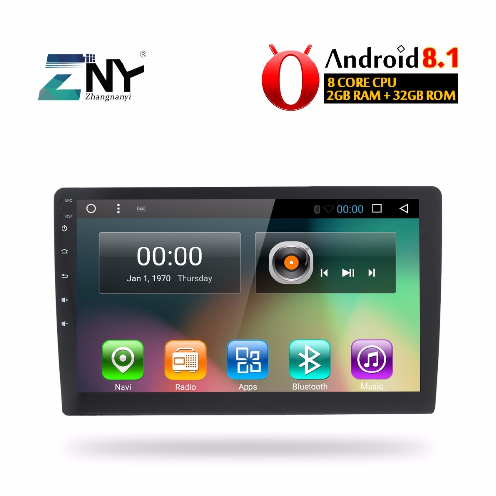 Universel Android 8.1 Audio Radio 1 Din autoradio 10.1