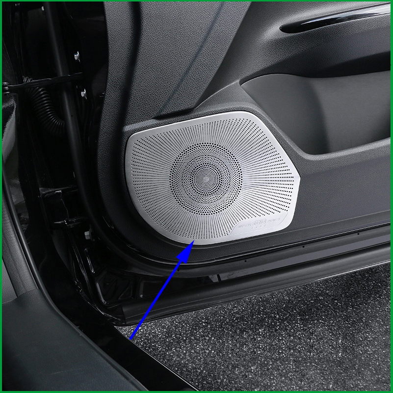 Stainless Car Door Speaker Decoration Cover Trim For Honda FIT JAZZ 2014~2015