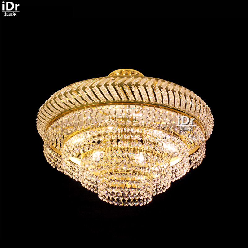Round crystal lamp living room restaurant entrance bedroom modern lamp Ceiling Lights wwy-0473 british snooker billiard lamp senior clubs casino card room lamp cradle pendant lights wwy 0431