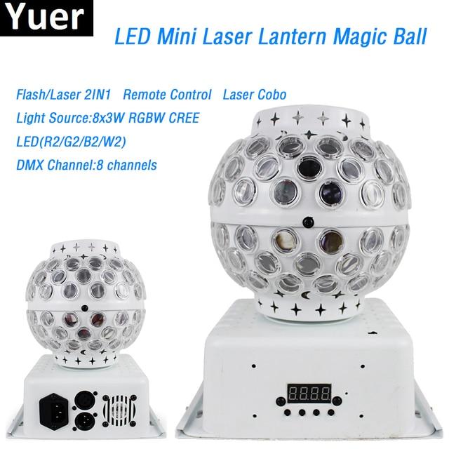 2Pcs/Lot 8x3W RGBW cree Crystal Magic Ball led lamp portable lantern 8 DMX channels Party Disco Club DJ Stage Effect Lighting