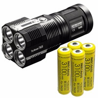 Wholesale Free Shipping NITECORE TM28 6000LMs 4x CREE XHP35 HI LED Rechargeable Hight Light Flashlight Hunting Outdoor Searching