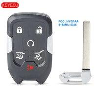 Keyecu GMC YUKON Terrain 315-2015 용 Smart Remote Key Fob 6 버튼 2020 MHz ID46 FCC: HYQ1AA