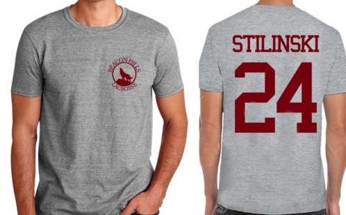 Stilinski 24 Mens T Shirt Teen Wolf Beacon Hills Lacrosse Power Stiles Summer Short Tee Shirt Front And Back Printing uomo tees