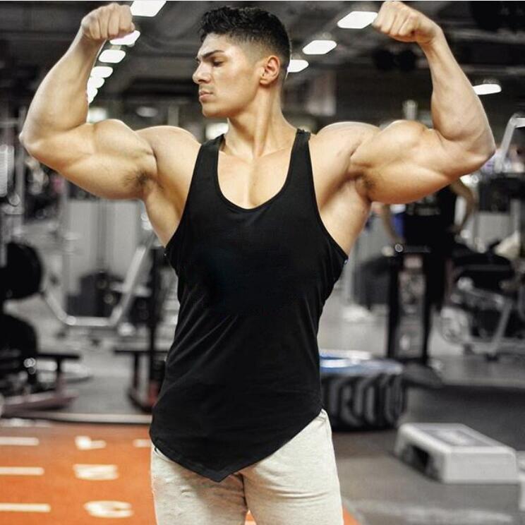 Brand Blank Vest Men canotta bodybuilding clothing and fitness men undershirt gyms stringer   tank     top   men Sleeveless shirt