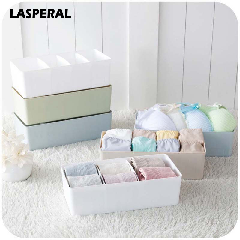 LASPERAL Underwear Bra Plastic Storage Boxes Separate Combination Classification Panties Socks Organizers Make Up Storage Bins