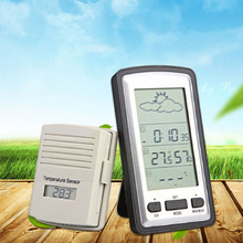 Buy online 1pcs Multifunctional Wireless Outdoor Indoor Weather Station Thermometer Humidity Meter Digital LCD