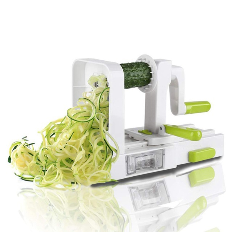 4 Blade Vegetable Spiralizer Folding Veggie Pasta & Spaghetti Potato Vegetable Spiral Cutter Zucchini Slicer