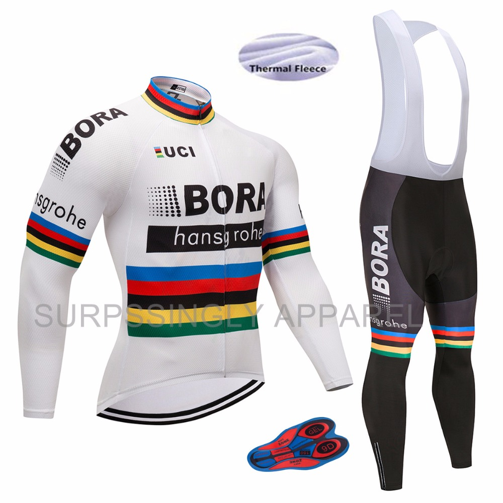 2017 Winter Thermal Fleece Men's Cycling Jersey Set /Mountain Bike Uniform/Long Sleeve Cycling Clothing/MTB Bicycle Jersey Set black thermal fleece cycling clothing winter fleece long adequate quality cycling jersey bicycle clothing cc5081