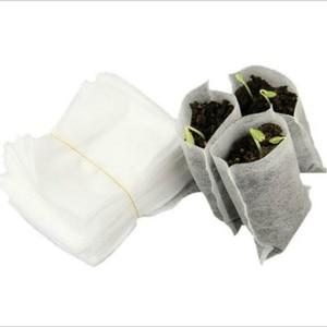 1set=100Pcs! New non-woven fabric seedling bag 8*10cm nursery pocket for garden tool potato planting grow bag Nursery Pots