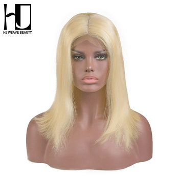 Blonde Lace Front Wig Peruvian 613 Short Bob Lace Front Human Hair Wigs For Black Women Natural Colors Bob Wigs Free Shipping gorros femininos
