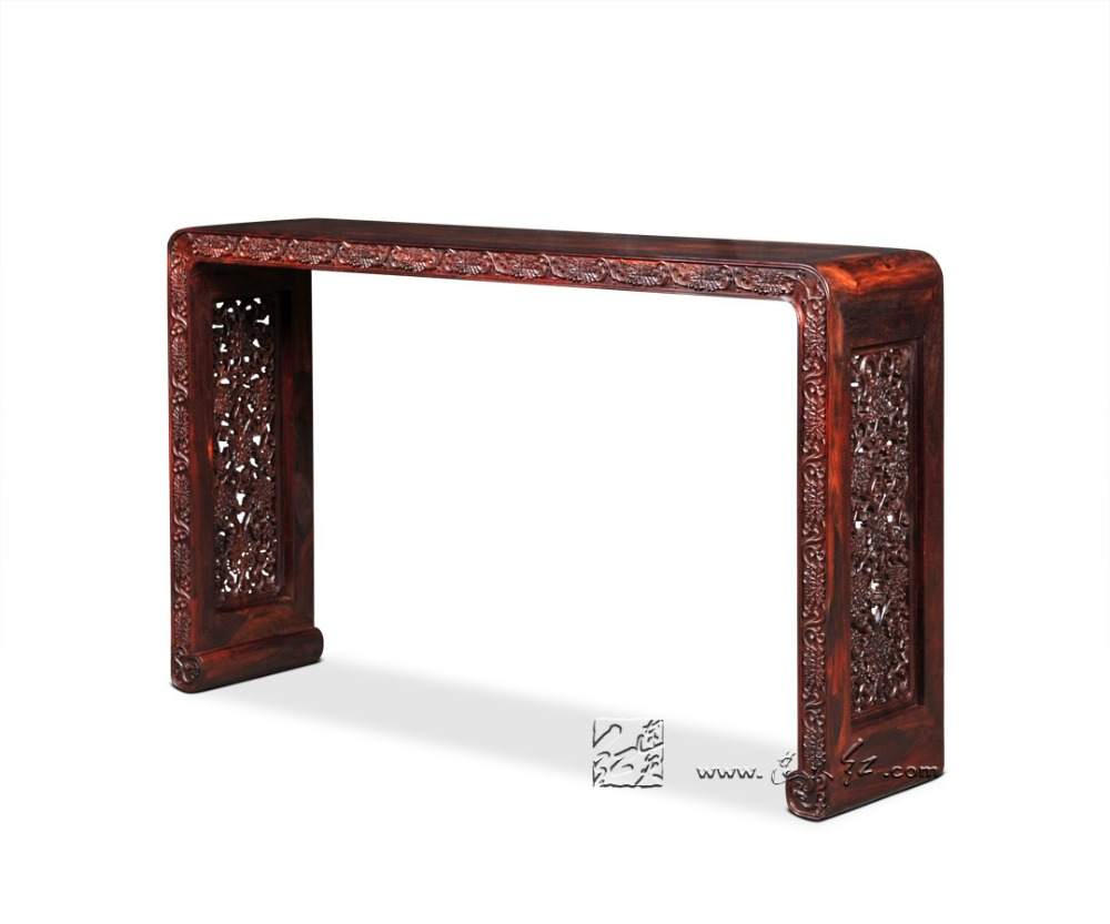 Chinese Classical furnation Peony Roll Book Case Burma Rosewood Precise restoration of The Palace Museum Collection Writing Desk precise restoration of the palace museum collection chinese classical furniture burma rosewood incense stand carving handicraft
