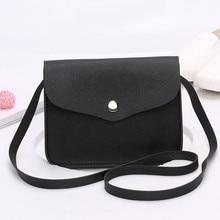 купить Fashion bags for women Solid Messenger Bag Female Leather Shoulder Bag Crossbody Bag for Girls Women's Handbag bolsa feminina дешево