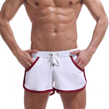 hot deal buy best price quick dry clothing men's casual shorts household man shorts pocket straps inside trunks beach shorts