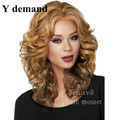 Cheap New womens Kanekalon Synthetic Fiber Afro wig African American Wigs for Black Women Wig DS7401