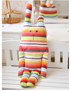 hot selling 65cm Japan  CRAFTHOLIC colourful rabbit plush toy doll creative gift free shipping