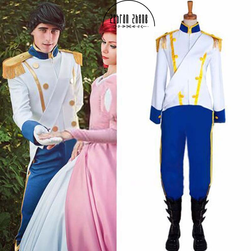 Sleeping Beauty The Little Mermaid Prince Cosplay Costume For Halloween Costume Full Set Costume Ariel Princess Custom-Made