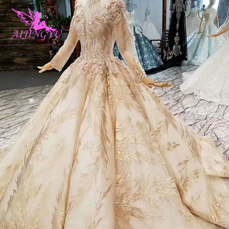 Image 2 - AIJINGYU Wedding Dress Costume Gowns New 2017 Two In One Gothic Ball Design Buy Luxury Gown 2018 Short Online Shop ChinaWedding Dresses   -
