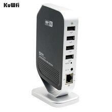 4 พอร์ตจุดโทรสารเครือข่ายระบบเครือข่าย USB Print Server ที่มีเสถียรภาพความเร็วสูงสำหรับ Windows 2000 XP Vista 7 ชิ้น USB 2.0 Server