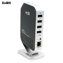 4 cổng Điểm Truy Cập Mạng Fax Mạng USB Máy Chủ In Ổn Định Tốc Độ Cao cho Windows 2000 XP Vista 7 cái USB 2.0 Máy Chủ