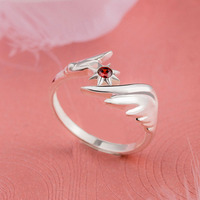 Card Captor Sakura ring silver 925 anime gifts for girls new year present silver cosplay jewlery wedding rings for women party