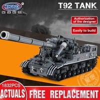 XingBao 06001 Creative MOC Building Blocks Military Army Series legoings The T92 Tank Set Children Development Blocks Toys Brick