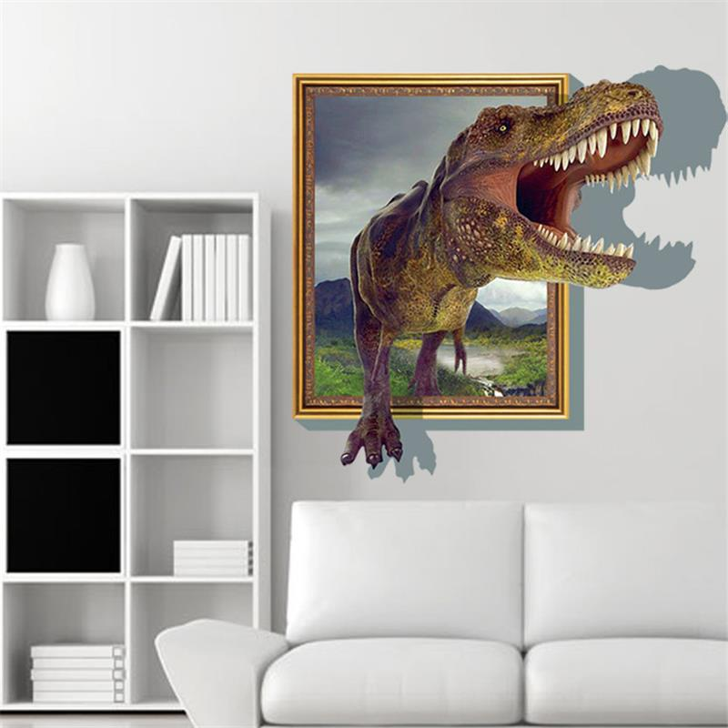 dinosaur bedroom. Jurassic Park Designs Wall Stickers 3D Cartoon Movie Dinosaur Bedroom Decor  Sticker boys Love Kids Room Child Gifts in from Home
