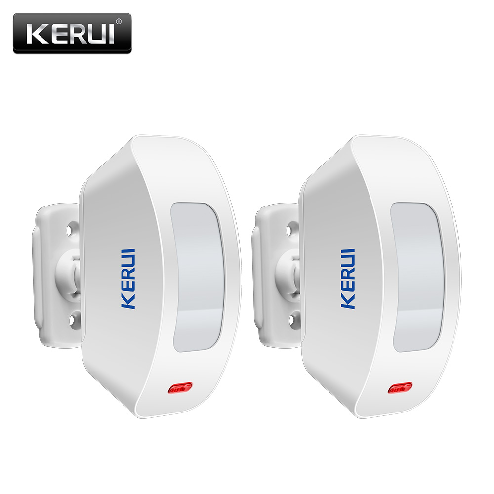 2pcs KERUI Wireless Window Curtain PIR Motion Detector Sensor For Home Alarm System 433Mhz For G19 G18 8218G M7 Alarm System