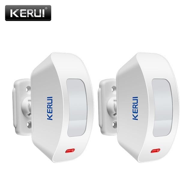 2pcs KERUI Wireless Window Curtain PIR Motion Detector Sensor for Home Alarm System 433Mhz for G19 G18 8218G M7 Alarm System