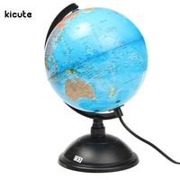 Hot Sale LED World Map World Globe Rotating Swivel Map Of Earth Geography Educational Tool Birthday