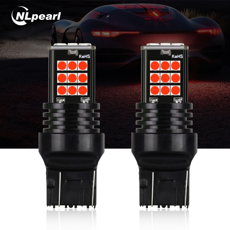 NLpearl 2x Car Led 1156 BA15S P21W BAU15S Led 1157 Bay15d Led T20 7440 W21W 7443 Led Turn Signal Lamp Brake Light Reverse Lights car led t20 7440 wy21w 1156 bau15s bay15s daytime running light