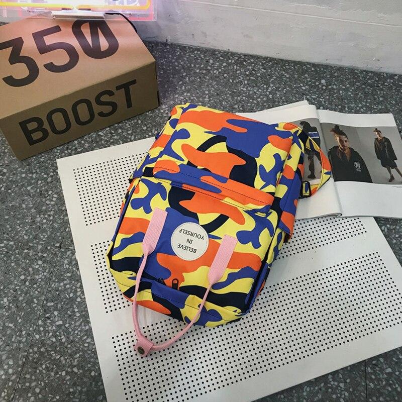 Youth Girls Backpack Nylon Backpacks for Teenage Girls Female School Shoulder Bags Fashion Women Waterproof Leisure Backpacks in Backpacks from Luggage Bags