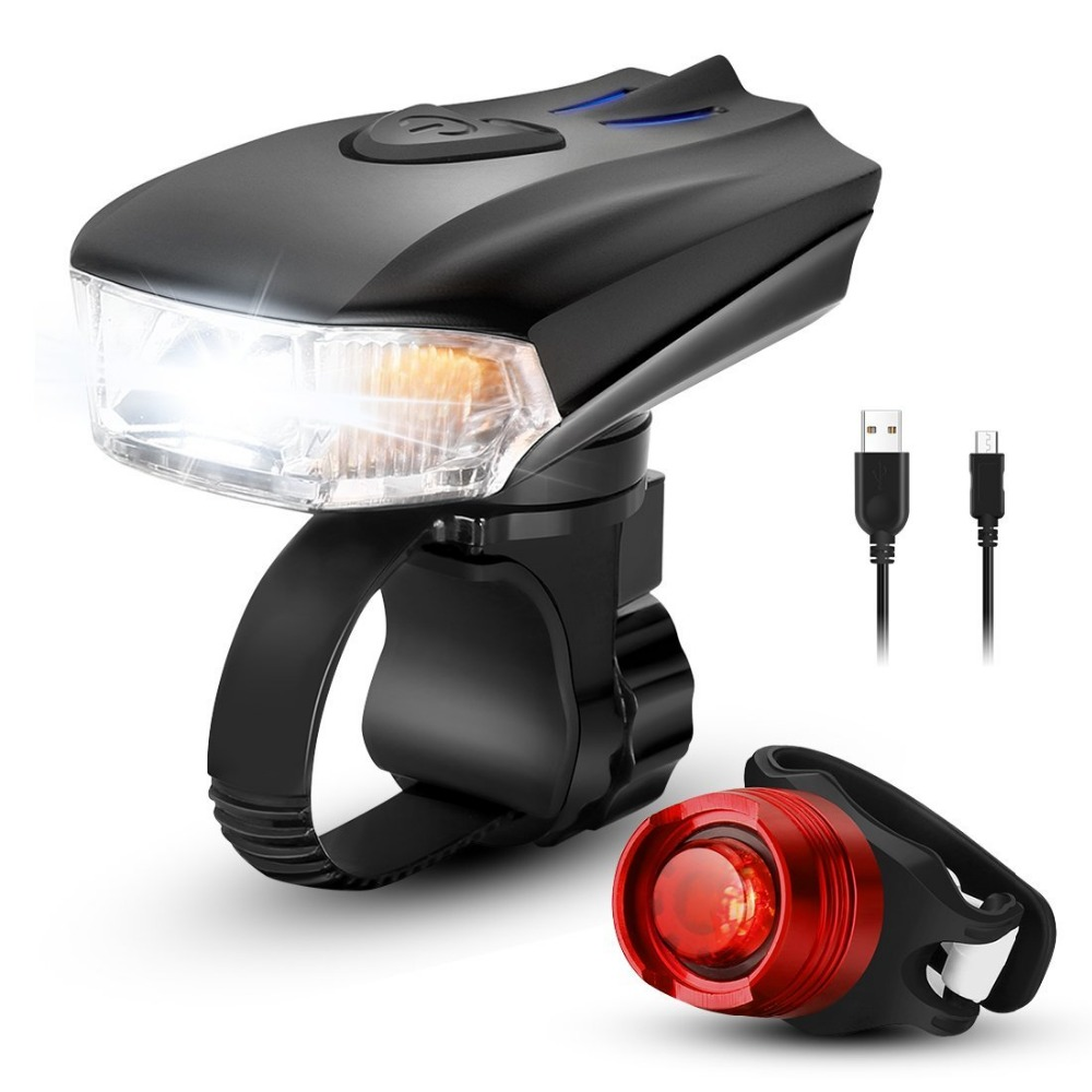 Super Bright Bicycle Light Set Usb Rechargeable 400 Lumens