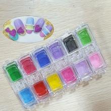 New Japanese Sugar Nail Glitter Powder Mixed Color Rainbow Manicure Jewelry Art Diy