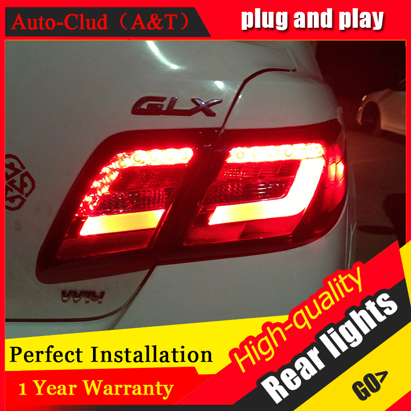 Auto Clud car LED Tail Lamp for Toyota Camry Tail Lamps 2006-2009 rear trunk lamp cover drl+signal+brake+reverse led lights