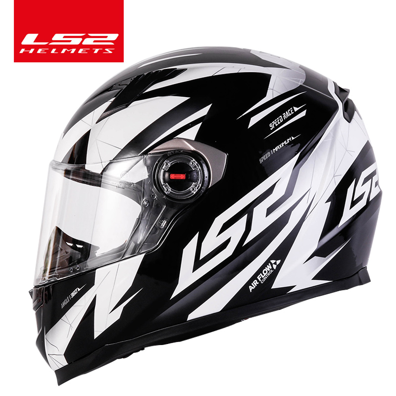 Original  LS2 FF358 full face motorcycle helmet hjelm helma capacete casque moto LS2 high quality helm ECE approved no pump(China)